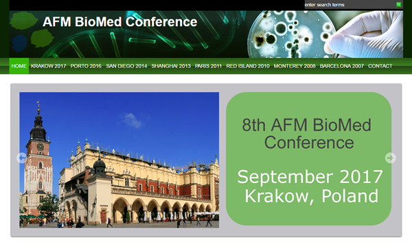 AFM BioMed Conference is dedicated to life sciences and nanomedicine applications using Atomic Force Microscopy (AFM).