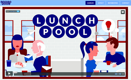 Custom made lunchpool appointment system: Lunchpool.nl