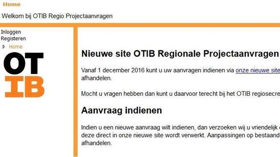 OTIB Projectaanvragen systeem