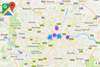 Google Map Locator for nopcommerce - showing London locations