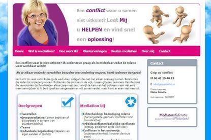Afbeeldingen van Website voor een bemiddeling bedrijf