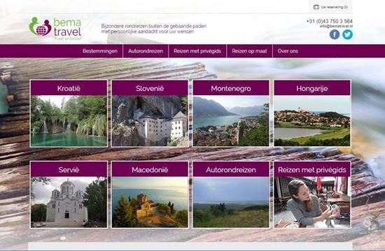 Webshop for a travel agency with online reservation system developed by nopcommerce.